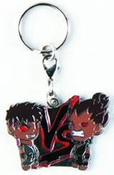 Street Fighter Evil Ryu vs Akuma Enamel Keychain