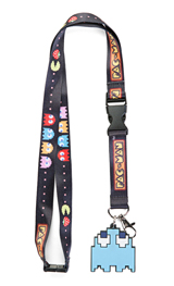 Pac-Man Blue Ghost Charm Lanyard