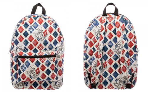 Suicide Squad Daddy's Lil Monster Diamond Print Backpack