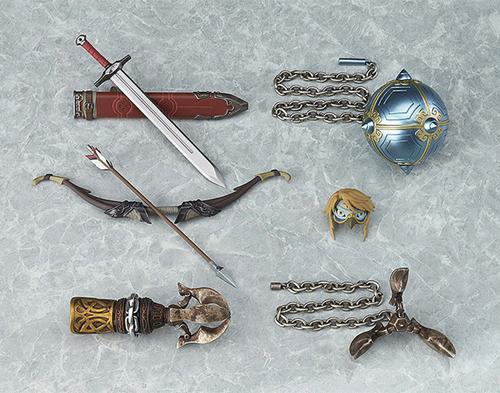Legend of Zelda Twilight Princess Link Figma Deluxe Action Figure included items