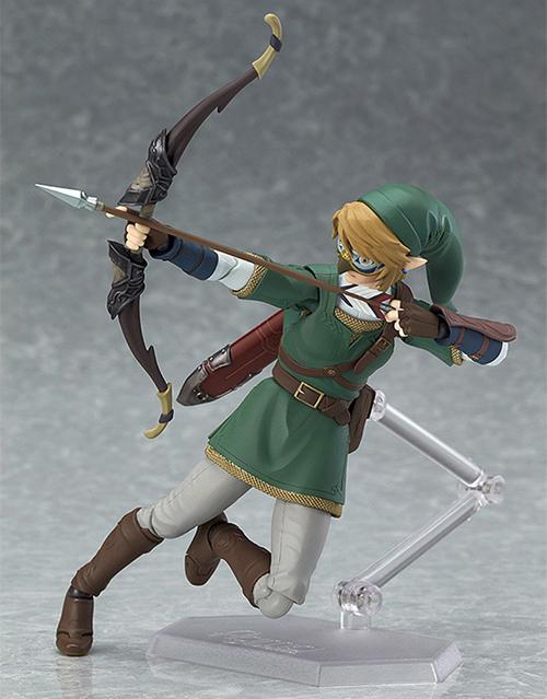 Legend of Zelda Twilight Princess Link Figma Deluxe Action Figure taking aim with his hero's bow!