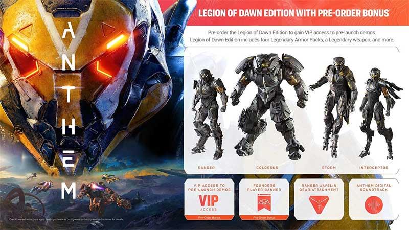 XB1 Anthem Legion of Dawn Edition bonus material