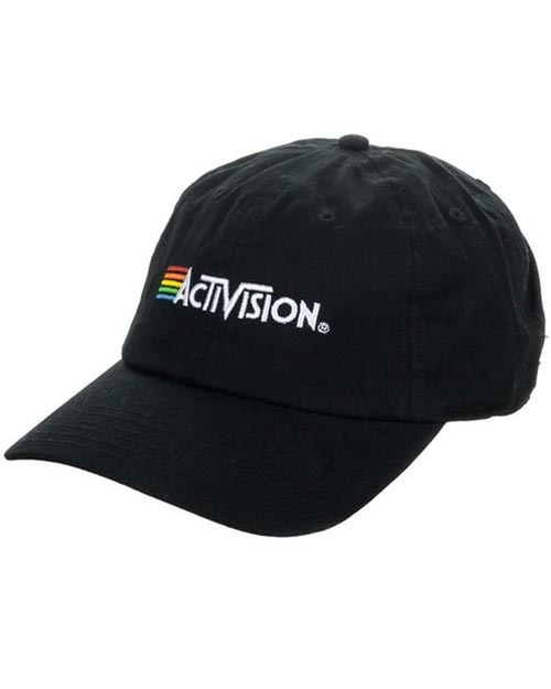 Activision Logo Embroidered Black Dad Hat