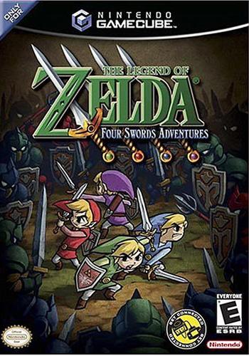 Legend of Zelda: Four Swords Adventures With Link Cable