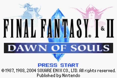 Final Fantasy I + II Advance