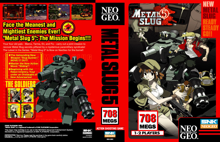 Metal Slug 5 Neo Geo AES