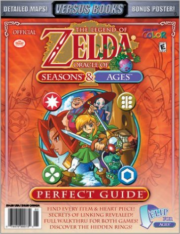 Legend of Zelda Oracle of Seasons & Ages Perfect Guide Versus Books
