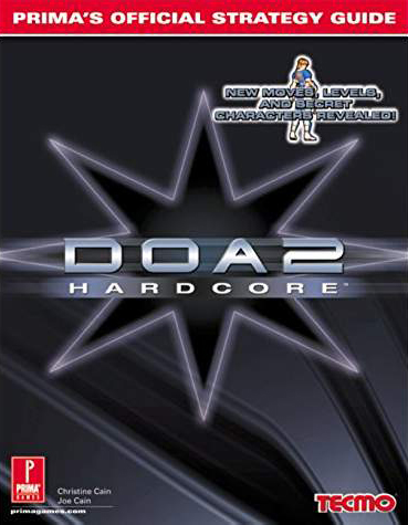 Dead Or Alive 2 Hardcore Official Strategy Guide Book