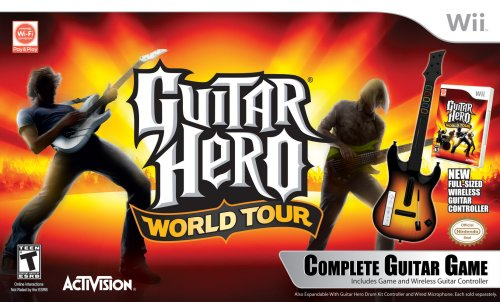 Buy Nintendo Wii Guitar Hero World Tour Guitar Bundle ...