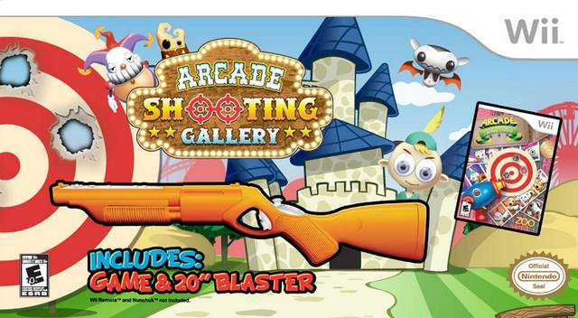 Arcade Shooting Gallery Bundle w/ Blaster