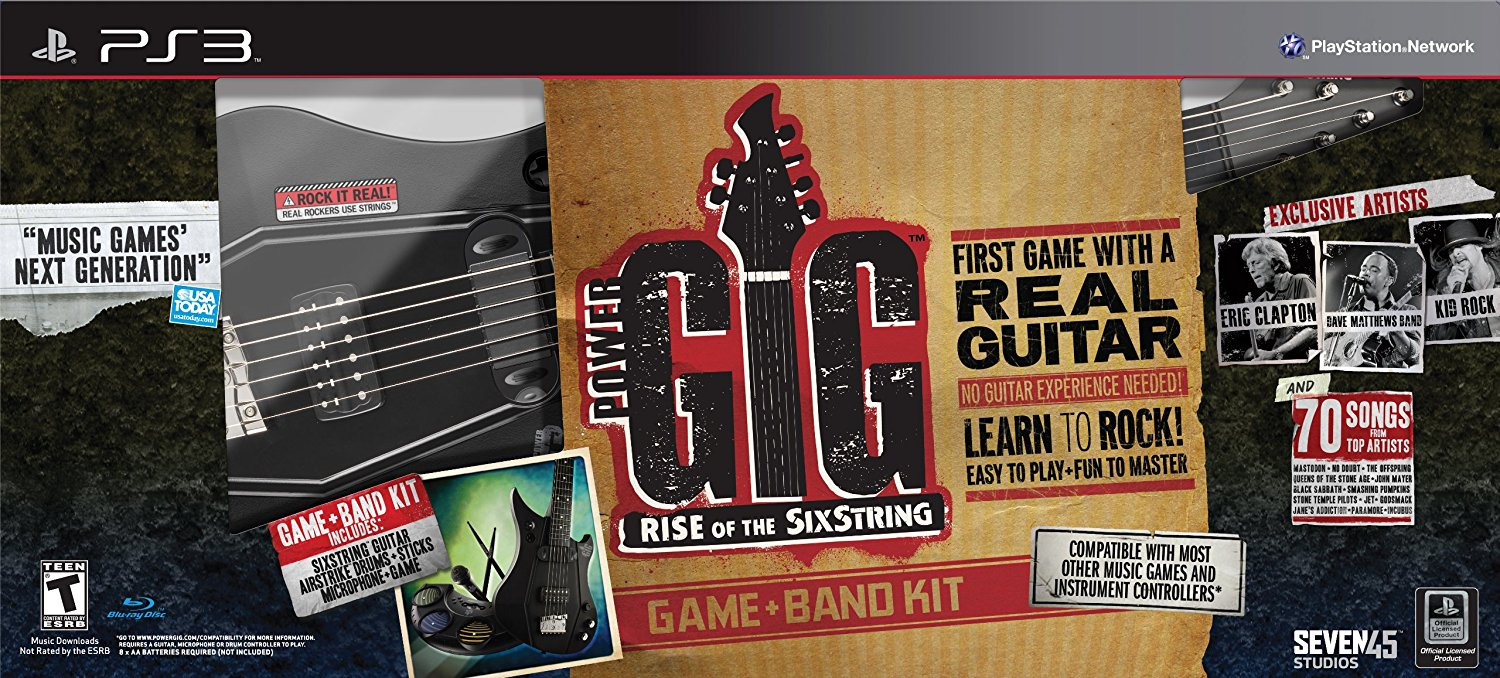 Power Gig: Rise of the SixString Band Kit