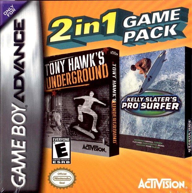 Tony Hawk's Underground and Kelly Slater's Pro Surfer Combo Pack