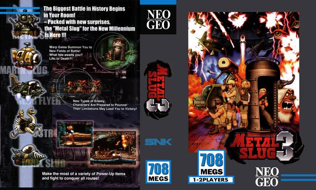 Metal Slug 3 Neo Geo AES