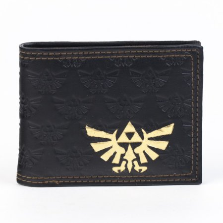 Legend of Zelda Twilight Princess Black Triforce Imprints Bi-Fold Wallet