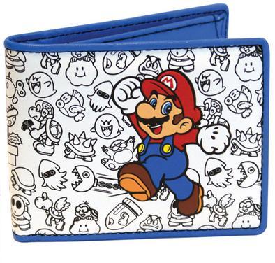 Nintendo Mario and Enemies Outline Bio-Fold Wallet