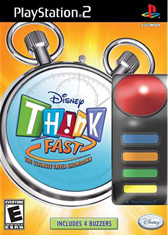 Disney Think Fast: The Ultimate Trivia Showdown eith 4 Buzzers