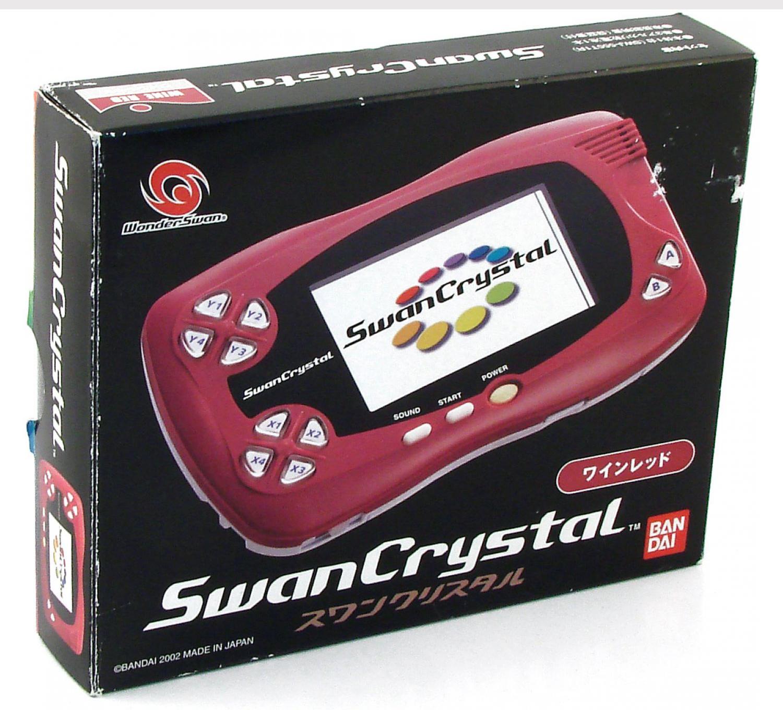 Bandai WonderSwan Crystal System Wine Red