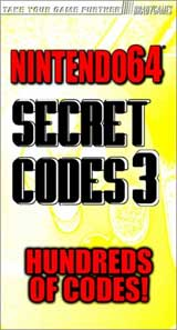 Nintendo 64 Secret Codes 3 Guides Book