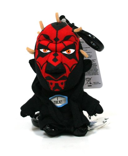 Star Wars Mini Talking Darth Maul Plush Clip-On