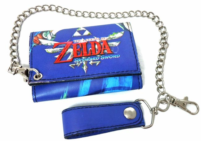 Legend of Zelda Skyward Sword Blue Key Art Chain Wallet