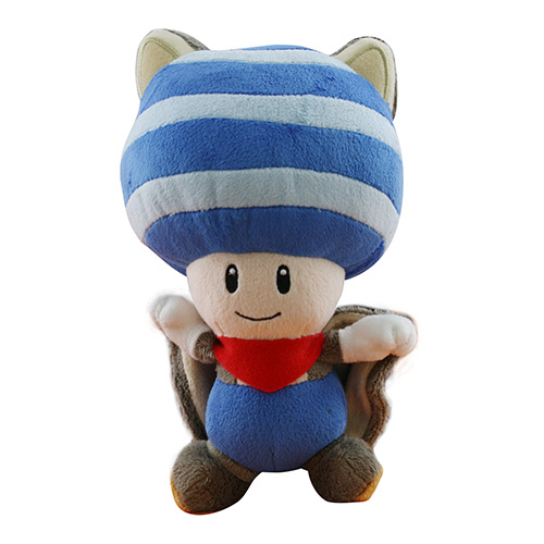 Nintendo Flying Squirrel Toad 8 Inch Blue Plush
