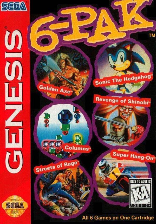 Genesis 6 Pak: 6 in 1 Cartridge
