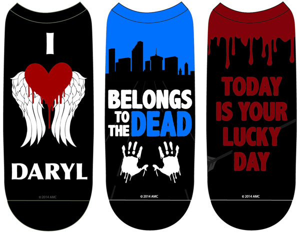Walking Dead I Heart Daryl Woman's Low Cut Sock 3 Pack