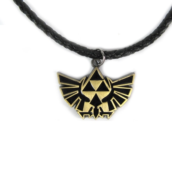 Legend of Zelda: Twlight Princess Gold/Black Triforce Logo Necklace