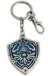 Legend of Zelda: Hylian Shield Silver/Blue Keychain