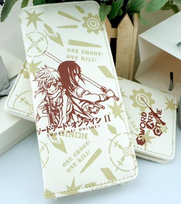 Sword Art Online: Kirito and Sinon Long Canvas Wallet