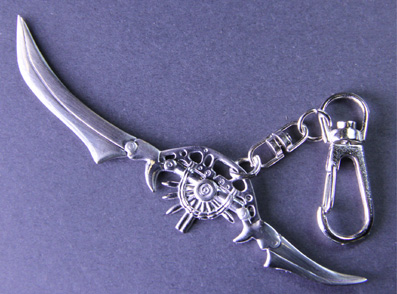 Final Fantasy Double Bladed Sword Keychain
