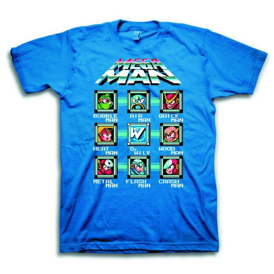 Mega Man Bad Guy Blue T-Shirt Small