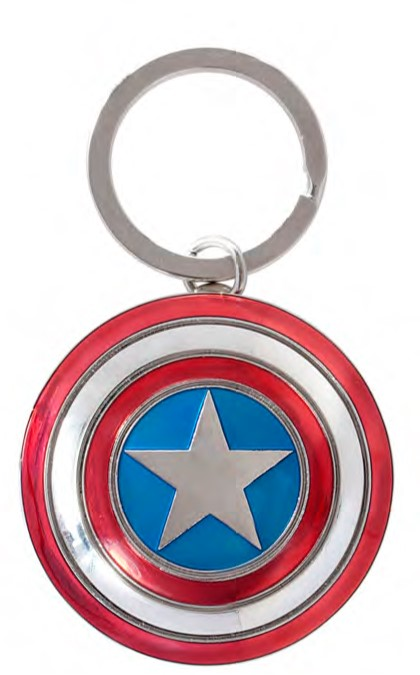 Avengers Age of Ultron Captain America Shield Pewter Keyring