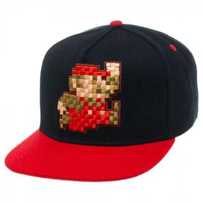 Super Mario 8-bit Snapback Cap