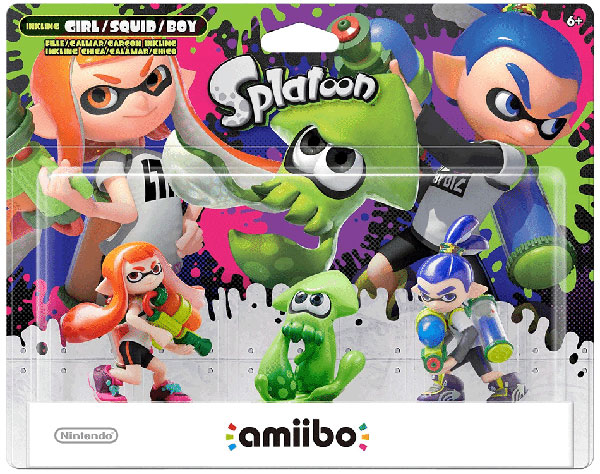 amiibo Inkling 3-Pack Set (Splatoon)
