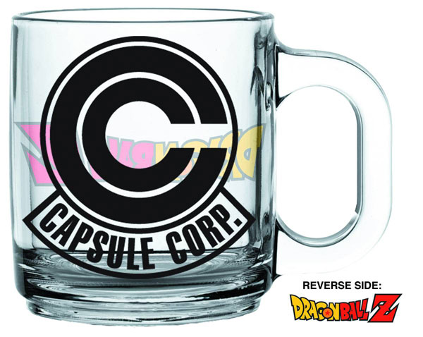 Dragon Ball Z Capsule Corp Glass Coffee Mug