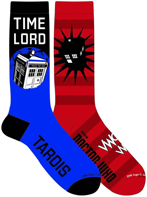 Doctor Who Time Lord Crew Socks 2-Pack