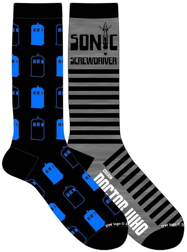 Doctor Who Allover TARDIS Crew Socks 2-Pack