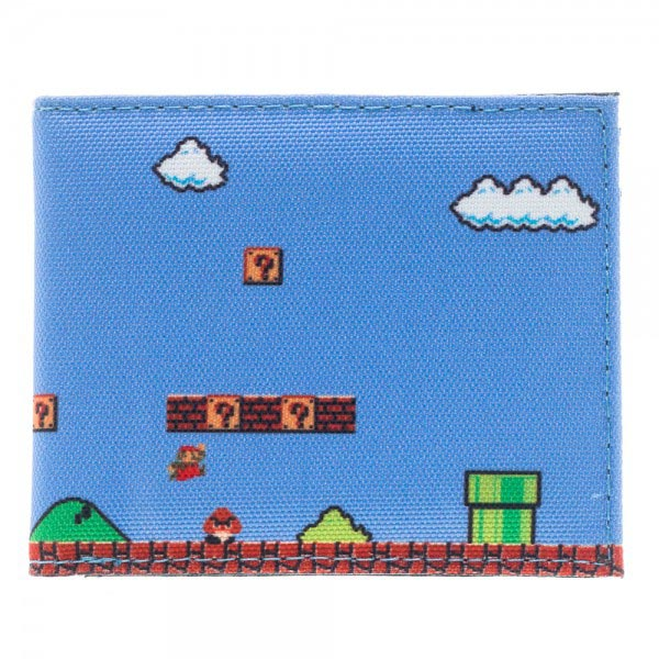 Super Mario 8-Bit Sublimated Bi-Fold Canvas Wallet