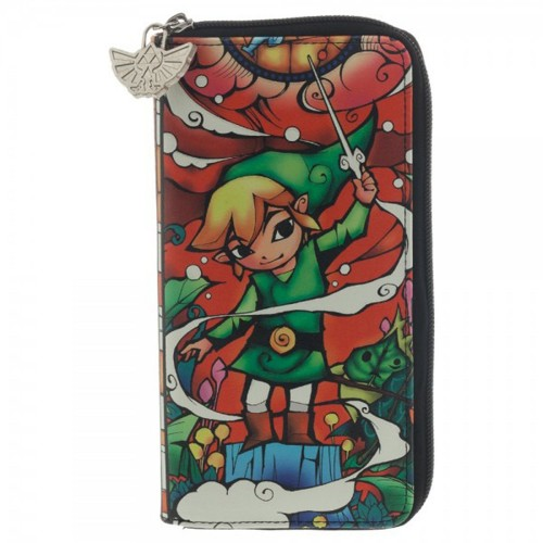 Legend of Zelda Wind Waker Link Baton Zip Around Wallet