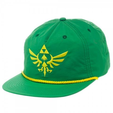 Legend of Zelda Skyward Sword Green 5 Panel Slouch Snapback Cap