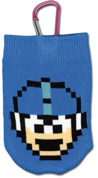 Mega Man 8-Bit Knitted Phone Bag
