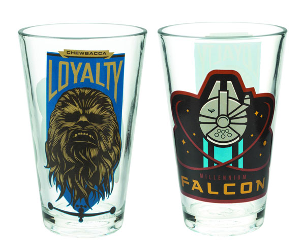 Star Wars Melen Falcon Chewbacca 10oz Glass