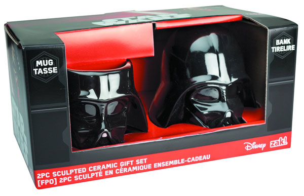 Star Wars Darth Vader Molded Bank and Mug 2-Pack Set