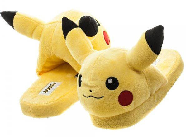 Pokemon Pikachu Unisex 3D Plush Slippers Large