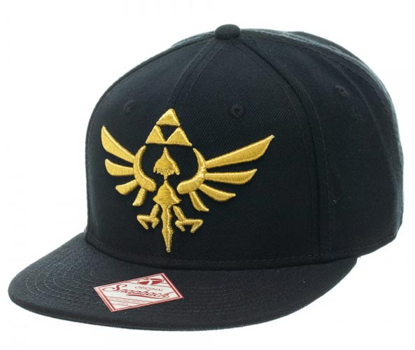 Legend of Zelda Logo Black Snapback Cap