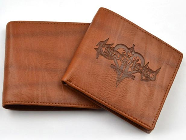 Kingdom Hearts II Logo Brown Wallet