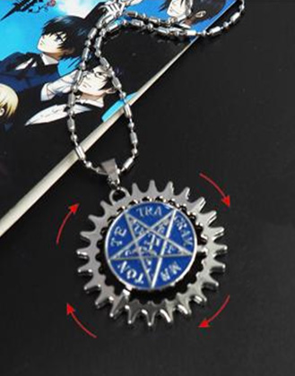 Black Butler: Sebastian's Faustian Contract Symbol Necklace