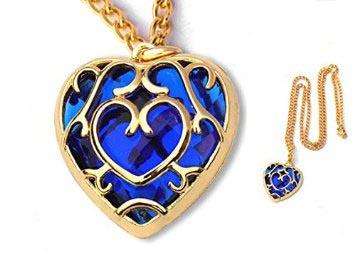 Legend of Zelda Blue Heart Necklace