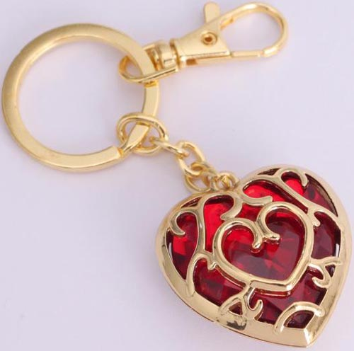 Legend of Zelda Skyward Sword Red Heart Container Keychain